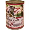 PET'S LAND Cat Junior konzerv marhamájjal, bárányhússal és almával (48 x 415 g) 19.92kg
