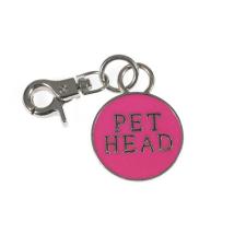 PetHead pink kerek fém medál medál