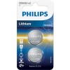 Philips CR2032 3V-os Lítium gombelem - 2db