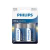 Philips LR20E2B/10 - 2 db alkáli elem D ULTRA ALKALINE 1,5V