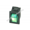 Phobya négyszögletes kapcsoló - zöld világítás - unipoláris ON/OFF (3-Pin)