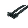 Phobya SATA 3.0 csatlakozókábel biztonsági reteszeléssel 60cm - fekete