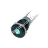 Phobya Vandalism Proof kapcsoló 19mm - fekete alumínium, zöld LED, 6pin