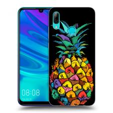Picasee Fekete szilikon tok az alábbi mobiltelefonokra Huawei P Smart 2019 - Pineapple tok és táska