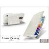 Pierre Cardin Samsung SM-G900 Galaxy S5 flipes slim tok - Pierre Cardin DeLuxe Slim Folio - white