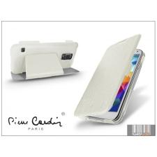 Pierre Cardin Samsung SM-G900 Galaxy S5 flipes slim tok - Pierre Cardin DeLuxe Slim Folio - white tok és táska