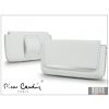Pierre Cardin vízszintes, fűzős, valódi bőrtok - Apple iPhone 4/4S - Type-7 - fehér