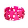 Pink háromszög karkötő