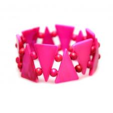 Pink háromszög karkötő karkötő