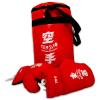 Piros boxzsák 8-as méretű kesztyűvel