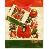 Piros-fehér-zöld antikolt matyó dísztasak 14x11 cm