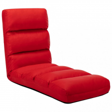 Piros összecsukható műbőr padlómatrac bútor