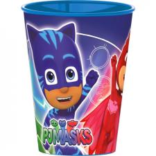 Pizsihősök PJ Masks, Pizsihősök pohár, műanyag 260 ml tányér és evőeszköz