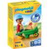 Playmobil 1.2.3 Építőmunkás talicskával 70409