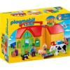 Playmobil 1.2.3 Hordozható tanyácskám 6962