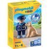 Playmobil 1.2.3 rendőr és kutya 70408
