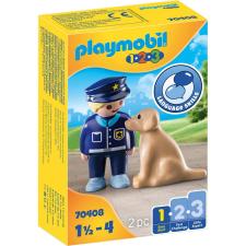 Playmobil 1.2.3 rendőr és kutya 70408 playmobil