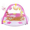 PlayTo Játszószőnyeg melódiával PlayTo alvó maci rózsaszín | Rózsaszín |