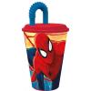 Pókember , Spiderman szívószálas pohár 430 ml