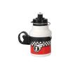 Polisport Race 350 ml gyermek kerékpár kulacs pattintós kupakkal+ gumipántos kulacstartóval 2019