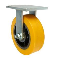 Poliuretán szállító kerék peremmel, 250 mm-es átmérő, görgős csapágy teher gumiabroncs