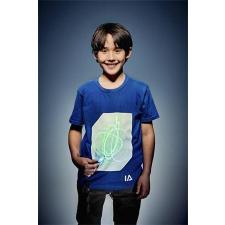 """. Póló, 9-11 éveseknek, sötétben világít, """"Illuminated Apparel"""", kék gyerek póló"""