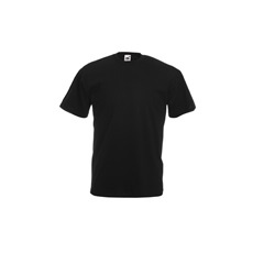 póló fekete kereknyakú 100% pamut (2XL)