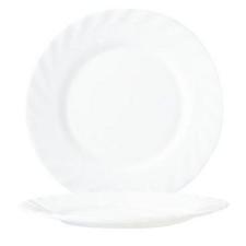 Porcelán tányér, mély tányér és evőeszköz