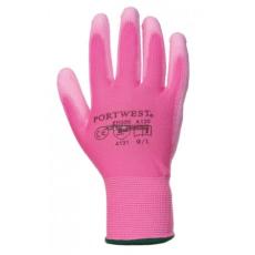 Portwest A120 Nylon PU tenyérmártott kesztyű (Pink, M)