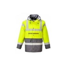 Portwest S466 Kontraszt Traffic kabát (SÁRGA/SZÜRKE)
