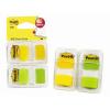 POST-IT Index -680-YG2 25x43 mm zöld/ sárga 3M