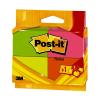 POST-IT Jegyzettömb 6812P Neon 3+1 ajándék Post-it