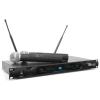Power Dyn amics PD722H, 2 csatornás UHF vezeték nélküli mikrofon rendszer, 2 x vezeték nélküli mikrofon