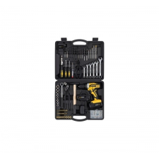Powerplus sárga akkus fúró - csavarbehajtó és szerszám készlet 20V POWX00825 barkácsgép akkumulátor