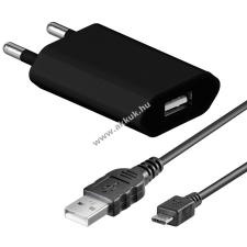Powery Goobay hálózati töltő + micro USB kábel 1m fekete mobiltelefon kellék