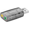Powery Goobay USB 2.0 hangkártya – Audio/Headset adapter