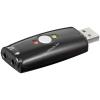 Powery Goobay USB 2.0 hangkártya – Audio/Headset adapter – mikrofon némító kapcsolóval