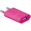 Powery Goobay USB hálózati adapter töltő pink 1A