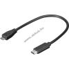 Powery Goobay USB kábel 2.0 (micro USB) B  -> 3.1 C csatlakozó - 20cm