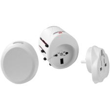 Powery SKROSS Classic USB hálózati adapter (több mint 150 ország) fehér kábel és adapter