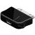 Powery USB-adapter Micro-USB -> iPhone – iPod, iPhone, vagy iPad fekete (nem Apple Lightning csatlakozó)