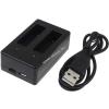 Powery USB-Akkutöltő 2db akkuhoz GoPro Hero4 Silver