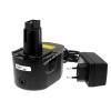 Powery Utángyártott akku Black & Decker Akkus fúró csavarbehajtó CD1402K2 Li-Ion +töltő