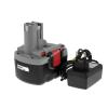Powery Utángyártott akku Bosch fúró-csavarbehajtó GSR 14,4VE2 O-Pack Li-Ion + töltővel