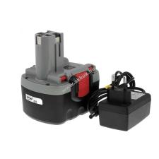 Powery Utángyártott akku Bosch típus 2607335711 O-Pack Li-Ion + töltő barkácsgép akkumulátor töltő