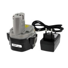 Powery Utángyártott akku Makita 4333DWD Li-Ion töltővel barkácsgép akkumulátor
