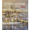 Prague in Oil Painting naptár 45×52 cm