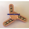 PRC Fidget Spinner pörgettyű fém - Tri 3*golyókkal - rosegold