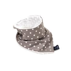 Prémium baba-és gyereksál - Szürke pöttyös fehér minkyvel