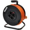 PremiumCord hosszabbító 230V 50 m dob, 4x foglalat, narancs